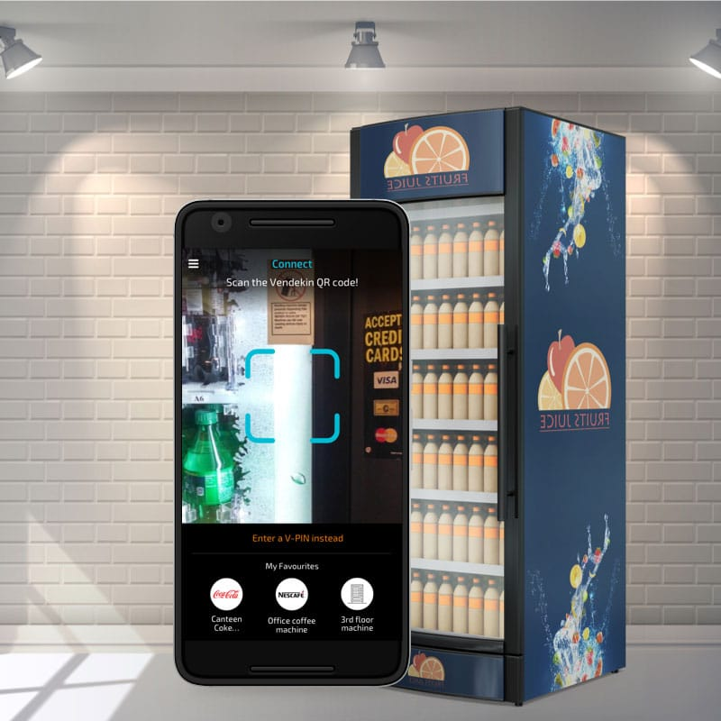 UX design for a consumer app for cashless vending