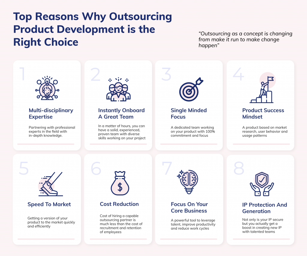benefits of outsourcing product development